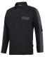 AllroundWork, Rugby Sweater, Zwart - Staal Grijs, (0458), 009